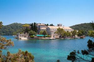 """""""St. Marija  monastery on litle island in national park Mljet, Croatia"""""""